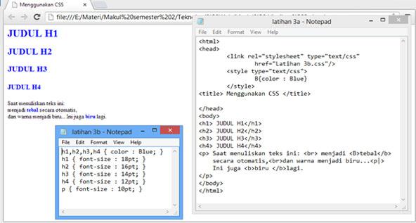 Mengganti Warna Teks di HTML – Belajar Website